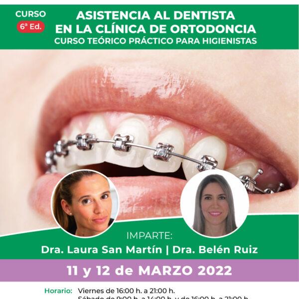 Asistencia al dentista en la clínica de ortodoncia